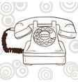 Old vintage telephone - retro vector
