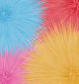 Colorful fantastic dandelions abstract flowers vector