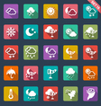 Weather icons- flat design vector