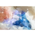 Colorful abstract background shiny polygon vector