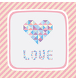 Triangle pattern love card1 vector