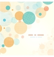 Fabric circles abstract corner pattern background vector