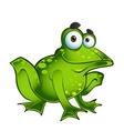 Happy green frog vector