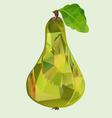 Pear green polygon vector