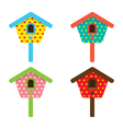 Bird house home birdhouse nest isolat vector
