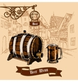Beer bar menu sketch vector