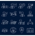 Business and management icons outline vector