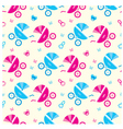 Seamless baby carriages pattern vector