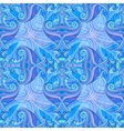 Blue and violet waves seamless background vector