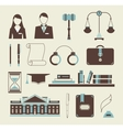 Law icons vector
