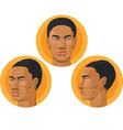 Head african american man vector