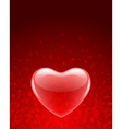 Transparent red heart vector