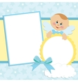 Template for babys photo album vector