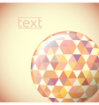 Globe with hexagon signs vector