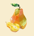 Pear polygonal vector