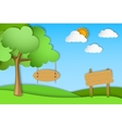 Green landscape of paper vector