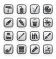 Painting and art object icons vector