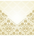 Floral pattern for invitation ard vector