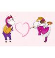 Goat sheep valentine vector