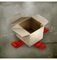 White cardboard box old style vector