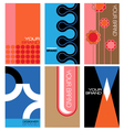 1960s inspired graphics set vector