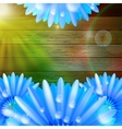 Flower with dew on wood plus eps10 vector