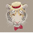 Hipster amur tiger vector
