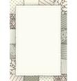 Patchwork framed vector