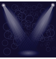Stage spotlights vector