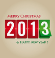 Merry christmas and happy new year 2013 mechanical vector