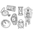 Set of clocks and watches vector
