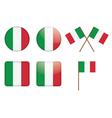 Badges with italian flag vector