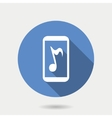 Mobile gadget icon mobile with musical note in vector