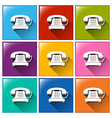 Telephone buttons vector