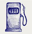 Gas station pump vector