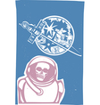 Zombie cosmonaut vector