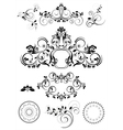 Collection of patterns and round frames vector