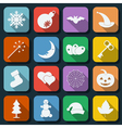 Holidays icons vector