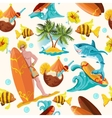 Surfing seamless background vector