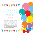 Colorful balloons frame template vector