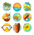 Surfing icons set vector