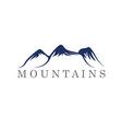 Mountains abstract vector