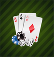 The set of casino elements vector