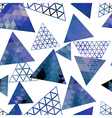 Retro pattern of geometric shapes triangles vector