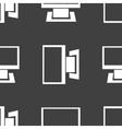 Computer web icon flat design seamless gray vector