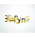 Branding font word concept vector