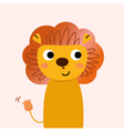 Beautiful cartoon lion character vector