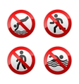Set prohibited signs - sport vector