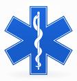 Blue medical sign vector