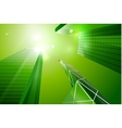 Green eco business city background vector